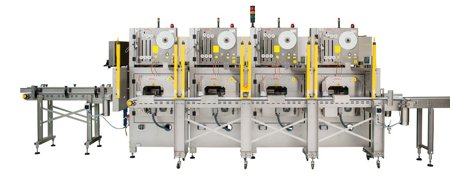 Fully automatic 4 head banding machine