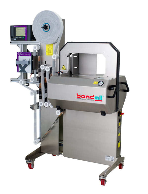 stand alone BRANDING by BANDING SOLUTIONS with BANDALL BANDEROLING EQUIPMENT Filmpackaging, BUNDLING UNITS. PERFECT